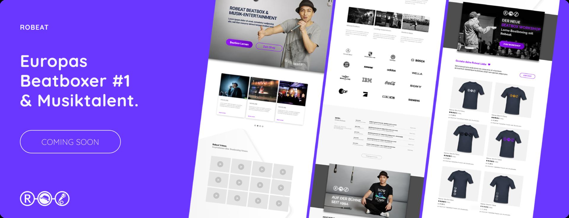 Coming soon - neue Webseite Robeat