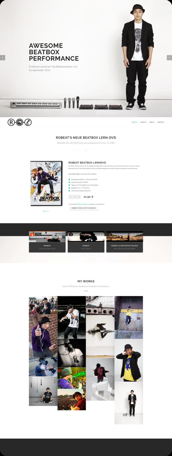 Robeat Webseite